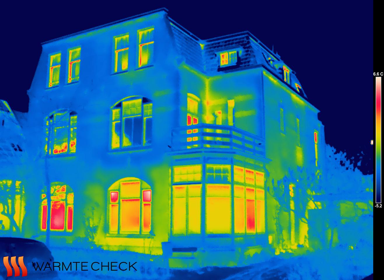 Alet's huis in infrarood beeld