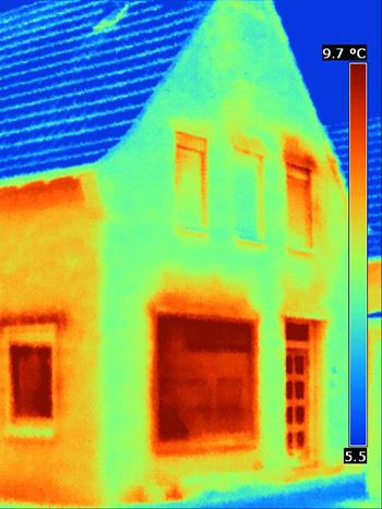 Een warmtebeeld toont waar u kunt besparen
